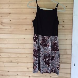 Sun Dress by Loft Floral Bottom w/ Black Top